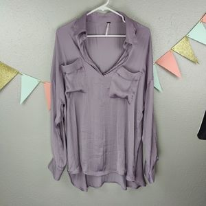 Free People Silky Starry Dreams Pullover Blouse